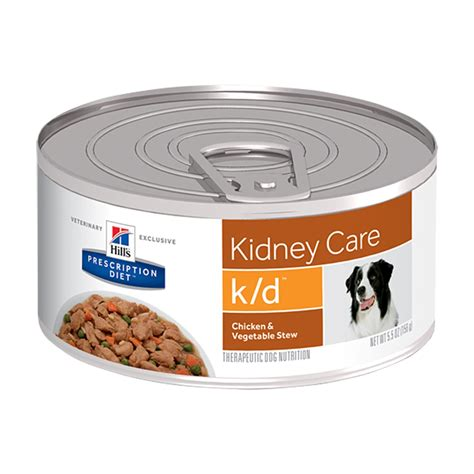 kidney care food prescription canine kidney care k d chicken vegetable stew 24x156g food