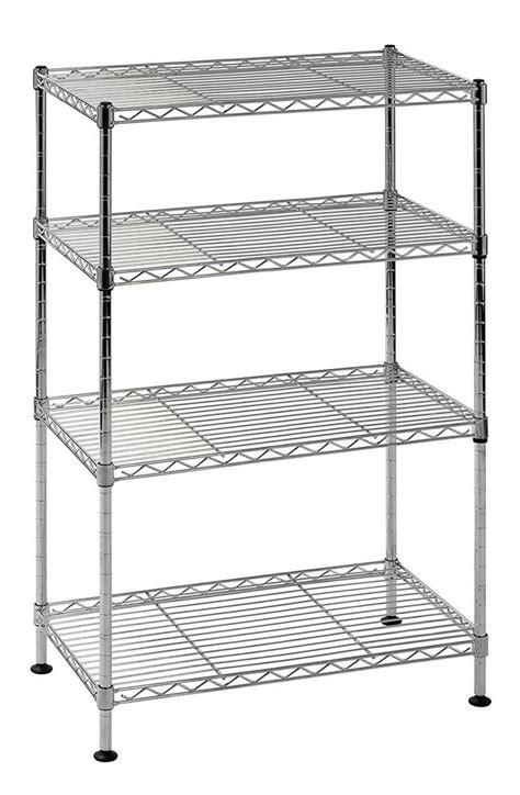 adjustable wire shelving strong 4 shelf shelving wire rack steel metal chrome storag home adjustable unit ebay