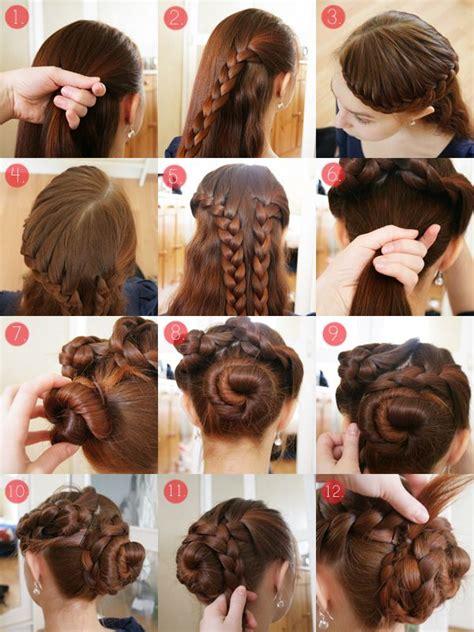 hair tutorial braids pinterest tutorials hair style pearls scissors braided updo tutorial for long and
