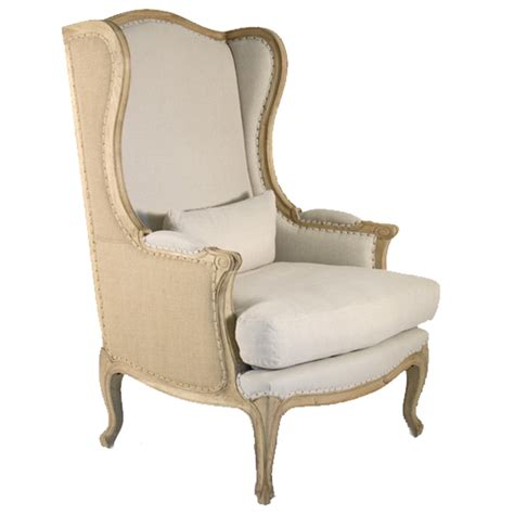 French Wingback Chair | vintage french wingback chair belle maison
