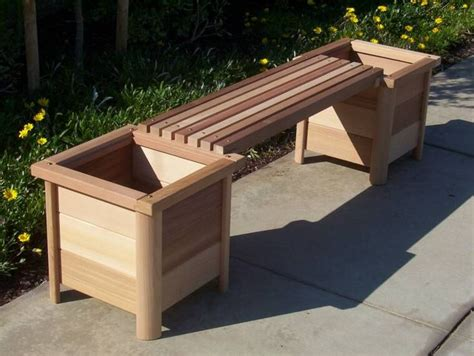 Outdoor Bench With Planter Boxes best 25 planter bench ideas on garden benches uk diy bag planter and small garden