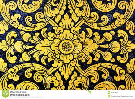 floral pattern artists flower pattern in traditional thai style stock photo