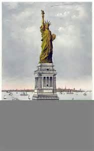 original color of the statue of liberty the statue of liberty construction in 1884