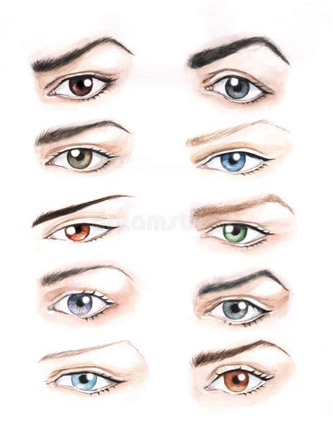 tattoo eyebrows islam yeux de couleur et de forme diff 233 rentes illustration stock
