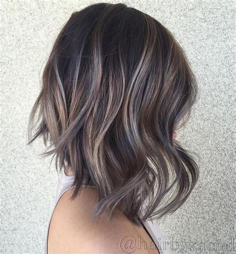 brown hair with caramel highlights to hide gray best 25 balayage bob ideas on pinterest balayage short