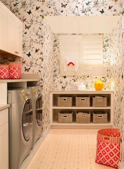 fun ways to get creative with wallpaper 5 ways to get this look wallpapered laundry room