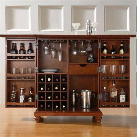 crosley cambridge expandable bar cabinet crosley furniture cambridge expandable home bar cabinet in
