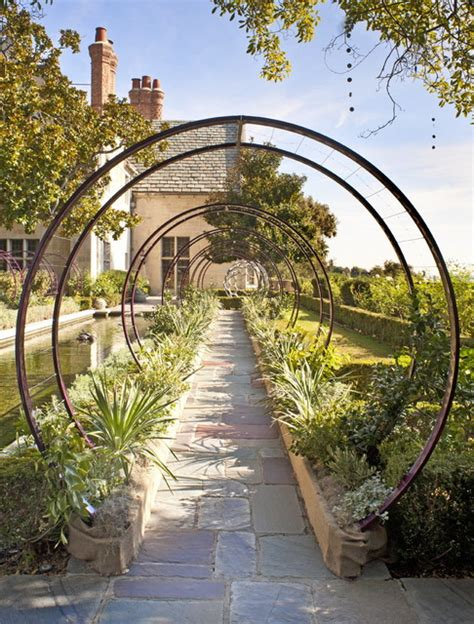 Contemporary Garden Trellis greystone mansion gracie trellis contemporary landscape los angeles by terratrellis