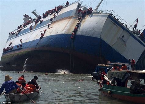 ferry boat jobs uk moment dozens of passengers made escape from capsizing