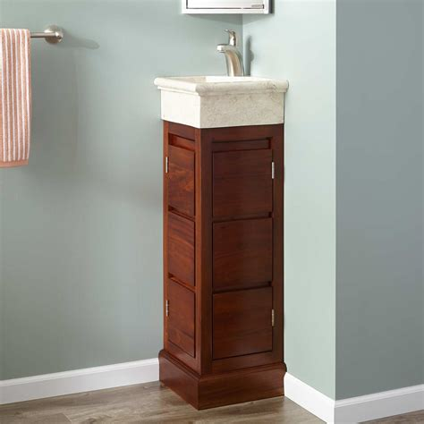 How To Finish Wood Cabinets 12 Quot Carina Mahogany Corner Vanity Golden Mahogany Bathroom
