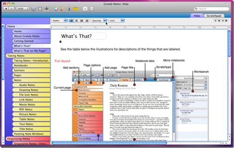 onenote notebook templates twenty something student growly notes for macs