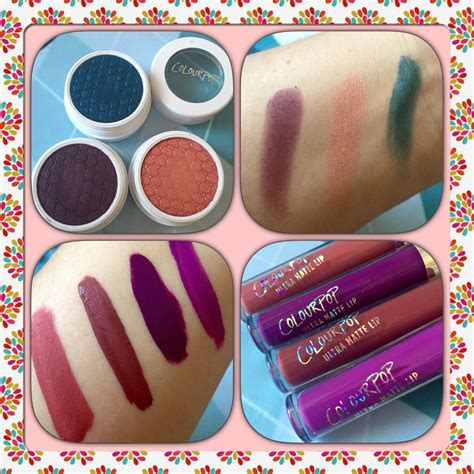 color pop review color pop haul and review shock eyeshadows and