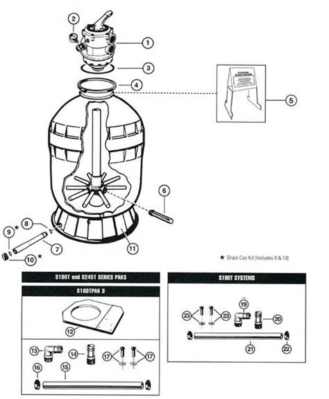sand filter parts diagram hayward s190t s245t sand filter parts diagram