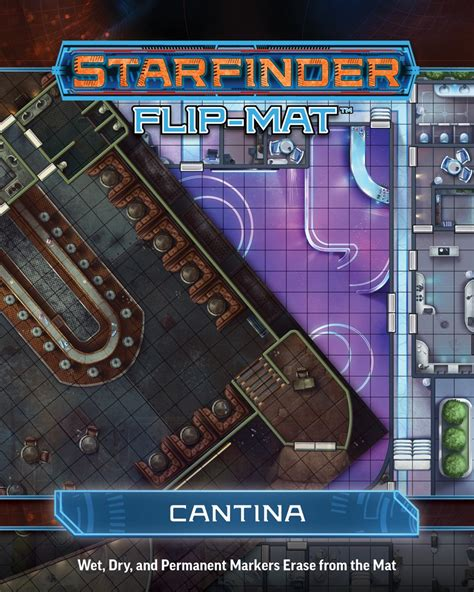 starfinder flip mat starship books paizo starfinder flip mat cantina