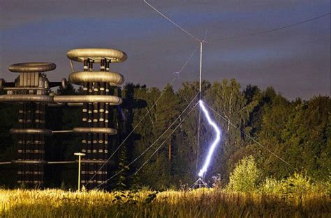 Tesla In Russia Futuristic Tesla Tower In Abandoned Woods Near