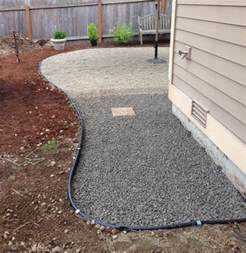 On a fall backyard project the pea gravel patio the inspired room