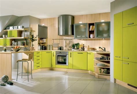 colour kitchen lime green kitchens panda s house
