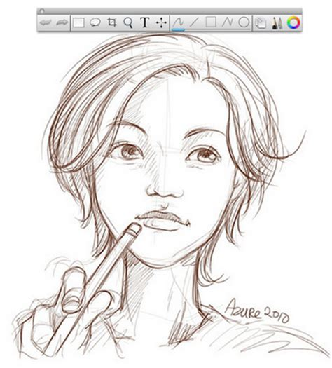 cara membuat sketsa wajah dengan aplikasi autodesk sketchbook di android play store