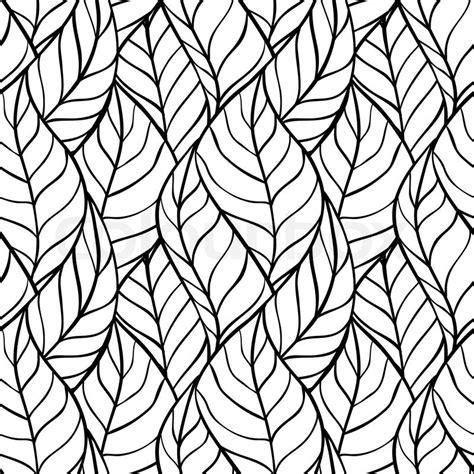 Muster Zeichnen Vorlagen Vector Illustration Nahtlose Muster Der Bl 228 Tter Vektorgrafik Colourbox