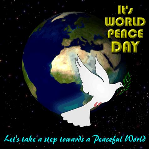 lets   step  peace  international peace day ecards