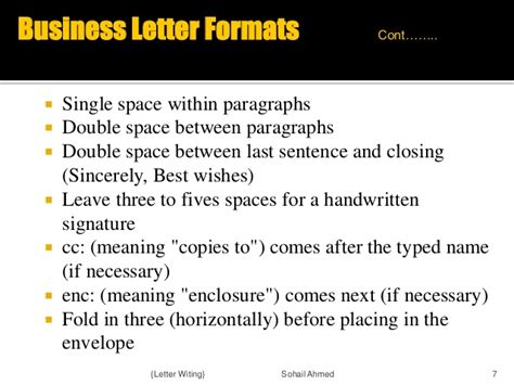 business letter how many spaces for signature letter writing by sohail ahmed