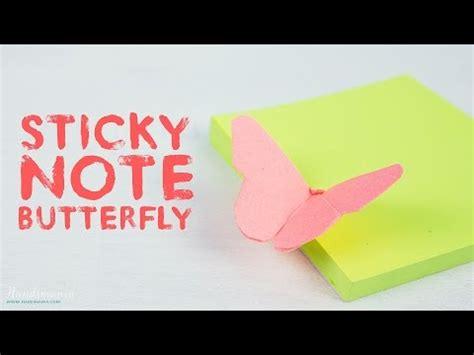 Sticky Note Origami Flower - sticky note butterfly