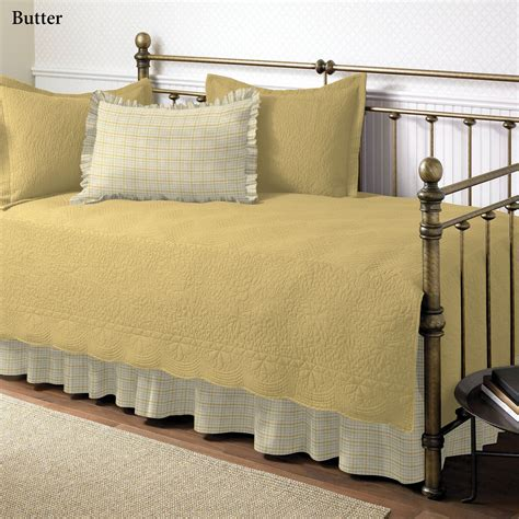 daybed coverlet trellis plaid 5 pc daybed bedding set