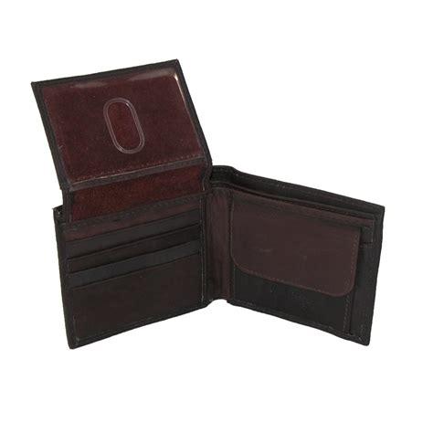 mens leather with coin pocket bifold wallet by paul