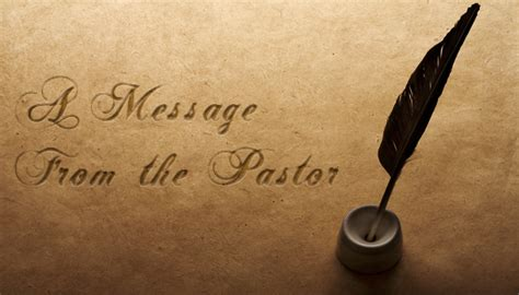 from the pastor s desk over 16 years of service