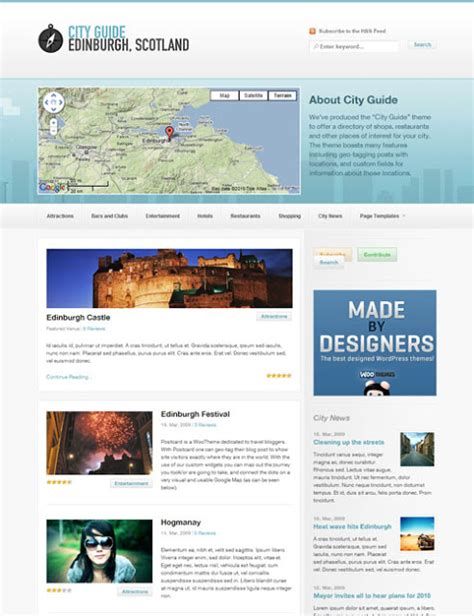 woothemes templates city guide travel theme by woothemes these templates
