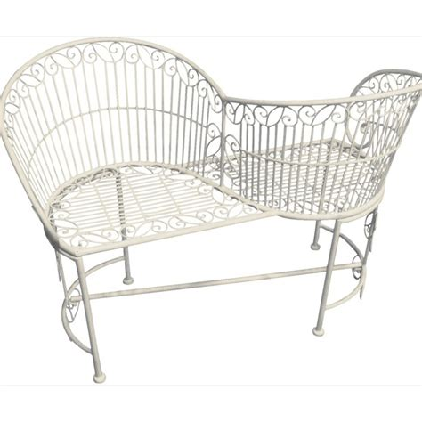 bench love kissing seat metal love seat bench the garden factory