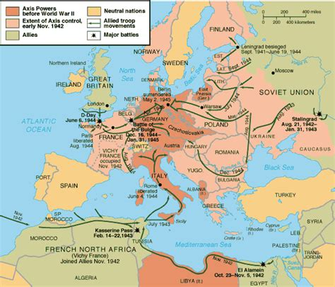 world war 2 africa map map of world war ii battles europe and africa pictures to