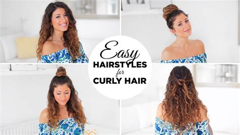 easy hairstyles  curly hair youtube