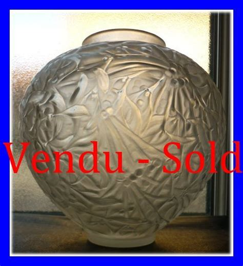 lalique vasi rene lalique deco vaso gui vischio 1920 1937
