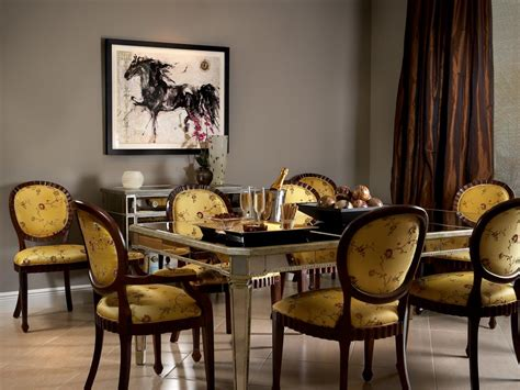 life s sweeter with chocolate dining room buffet table the chocolate taffeta floor to ceiling curtains create a