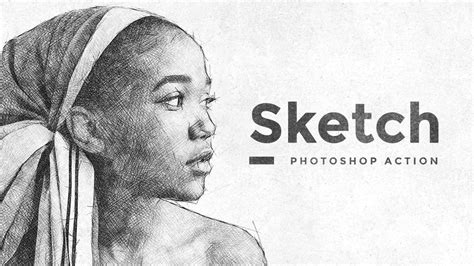 sketch pattern photoshop sketch effect photoshop action tutorial youtube