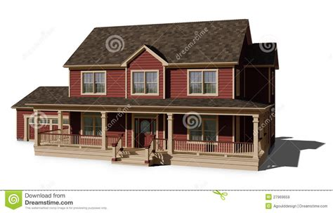 story house red stock illustration image