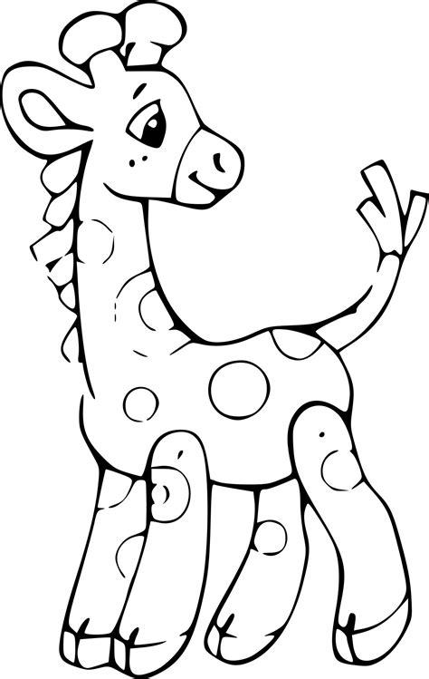 Coloriage De Girafe A Imprimer Gratuit L