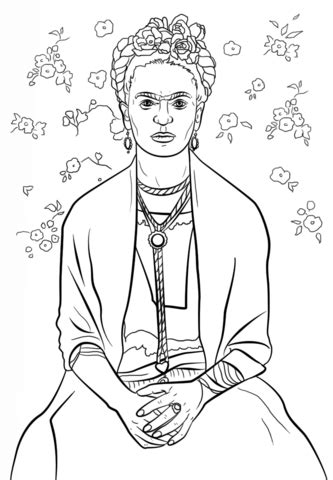 frida kahlo colouring books frida kahlo coloring page colour therapy frida kahlo embroidery and coloring books