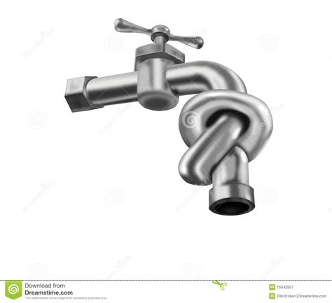 Faucet Tap Water Tap Closed Knot Isolated Faucet Valve Royalty Free