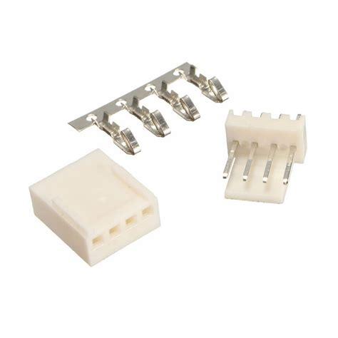Black Housing 4 Pin Konektor 4p 10pcs kf2510 4p 2 54mm pin header terminal housing