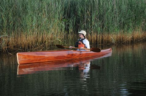 Handmade Wooden Kayak - robin in microbootlegger guillemot kayaks small
