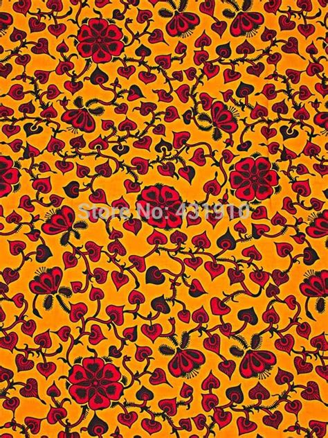 buy fabric online buy ankara fabric online real wax print yellow red for
