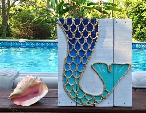 handmade mermaid pallet coastal decor mermaid