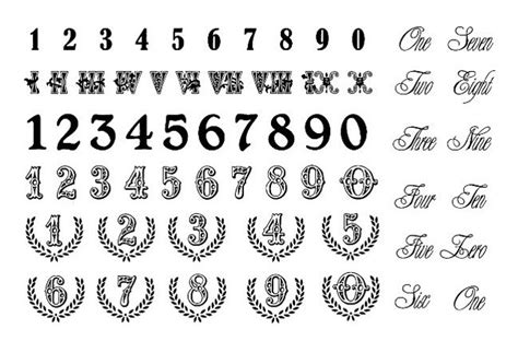 number 5 tattoo designs numbers styles