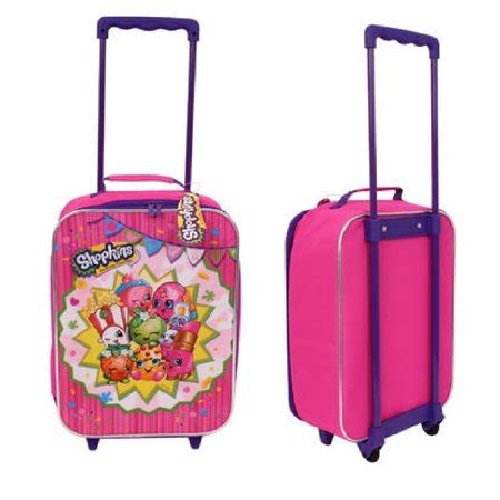 Shopkins Pink Cart moose shopkins pink canvas pilot rolling luggage