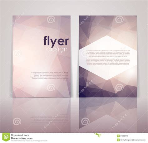 two sided brochure template sided flyer design stock vector image of ornament