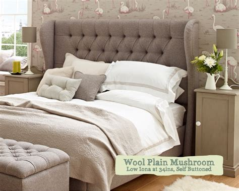 winged headboard uk 5 ft king size deep buttoned upholstered headboard