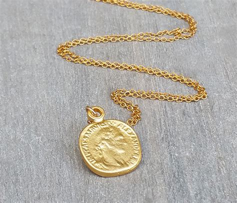 Zwarte Piet Charm disc necklace gold coin necklace coin jewelry delicate