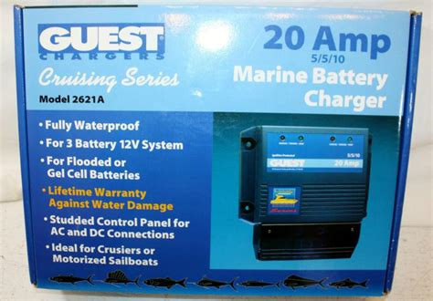 marine battery charger waterproof sell guest charger 20 marine battery charger